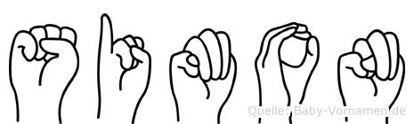 Simon in Fingersprache für Gehörlose