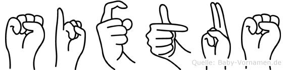 Sixtus in Fingersprache für Gehörlose