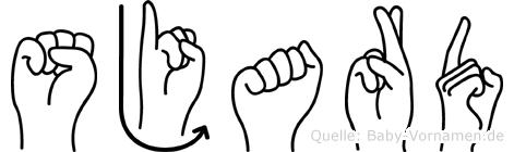 Sjard in Fingersprache für Gehörlose