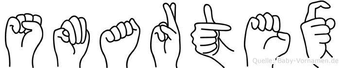Smartex im Fingeralphabet der Deutschen Gebärdensprache
