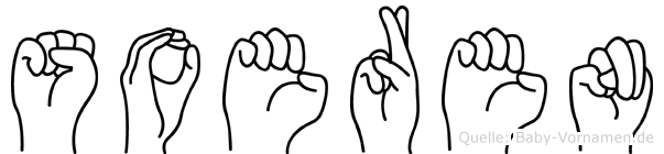 Soeren im Fingeralphabet der Deutschen Gebärdensprache
