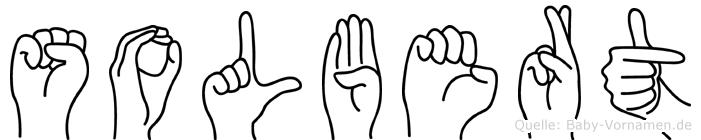 Solbert im Fingeralphabet der Deutschen Gebärdensprache