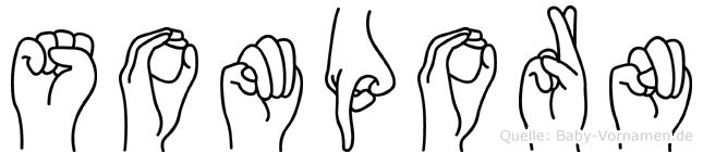 Somporn im Fingeralphabet der Deutschen Gebärdensprache