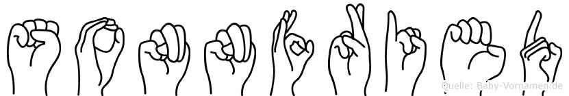 Sonnfried im Fingeralphabet der Deutschen Gebärdensprache