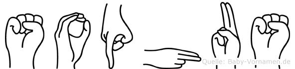 Sophus im Fingeralphabet der Deutschen Gebärdensprache