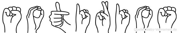 Sotirios im Fingeralphabet der Deutschen Gebärdensprache