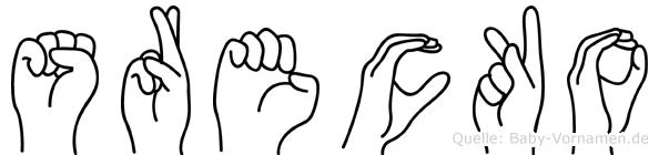 Srecko im Fingeralphabet der Deutschen Gebärdensprache
