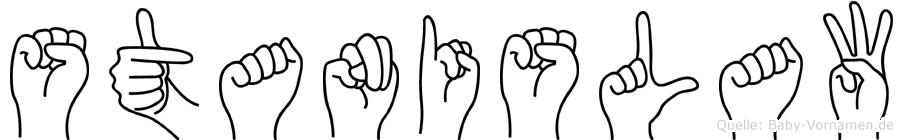 Stanislaw im Fingeralphabet der Deutschen Gebärdensprache