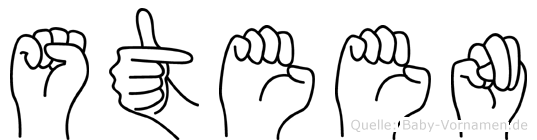 Steen im Fingeralphabet der Deutschen Gebärdensprache