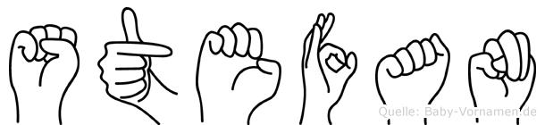 Stefan in Fingersprache für Gehörlose