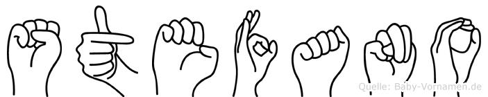 Stefano im Fingeralphabet der Deutschen Gebärdensprache