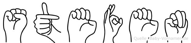 Stefen im Fingeralphabet der Deutschen Gebärdensprache