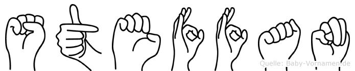 Steffan im Fingeralphabet der Deutschen Gebärdensprache