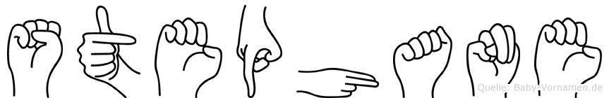 Stephane im Fingeralphabet der Deutschen Gebärdensprache