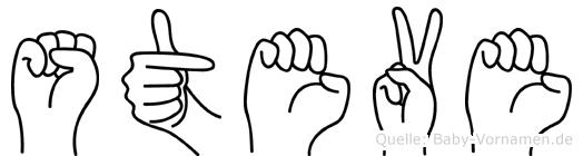 Steve in Fingersprache für Gehörlose
