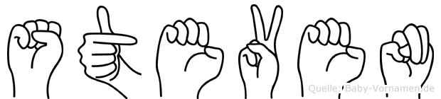 Steven in Fingersprache für Gehörlose