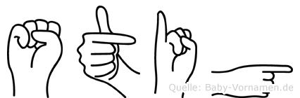 Stig in Fingersprache für Gehörlose