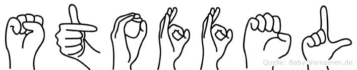 Stoffel in Fingersprache für Gehörlose