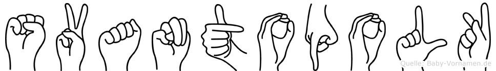 Svantopolk in Fingersprache für Gehörlose