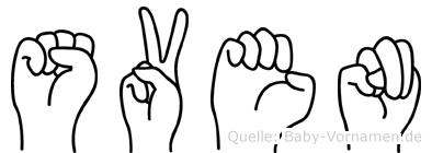 Sven in Fingersprache für Gehörlose