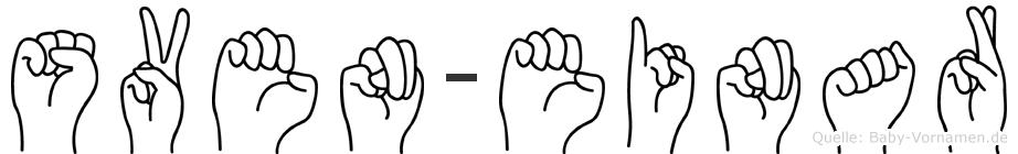 Sven-Einar im Fingeralphabet der Deutschen Gebärdensprache