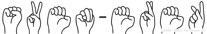 Sven-Erek im Fingeralphabet der Deutschen Gebärdensprache