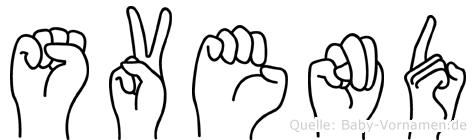 Svend in Fingersprache für Gehörlose
