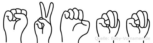 Svenn im Fingeralphabet der Deutschen Gebärdensprache