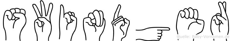Swindger in Fingersprache für Gehörlose