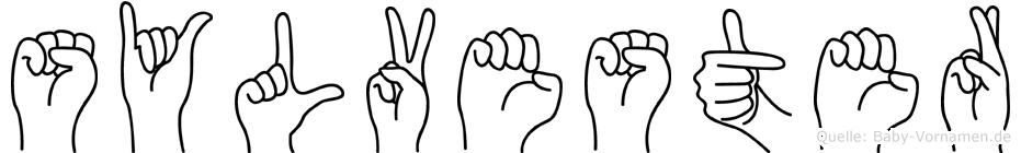 Sylvester in Fingersprache für Gehörlose