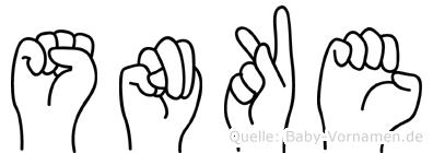 Sönke im Fingeralphabet der Deutschen Gebärdensprache
