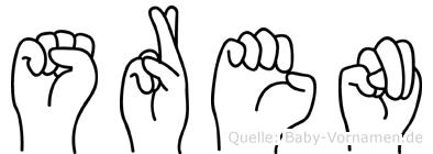 Sören in Fingersprache für Gehörlose