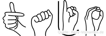 Tajo in Fingersprache für Gehörlose