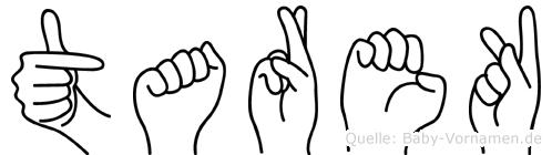 Tarek im Fingeralphabet der Deutschen Gebärdensprache