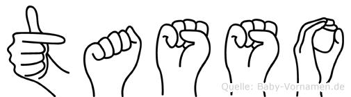 Tasso im Fingeralphabet der Deutschen Gebärdensprache