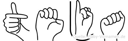Teja im Fingeralphabet der Deutschen Gebärdensprache