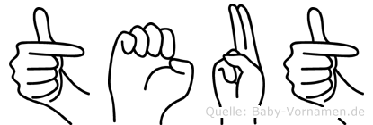 Teut in Fingersprache für Gehörlose