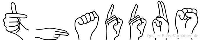 Thaddäus in Fingersprache für Gehörlose