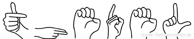 Thedel in Fingersprache für Gehörlose