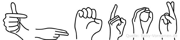 Thedor im Fingeralphabet der Deutschen Gebärdensprache