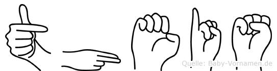 Theis im Fingeralphabet der Deutschen Gebärdensprache