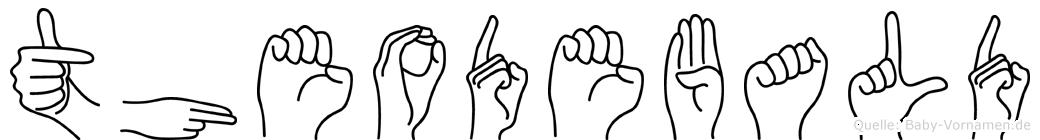 Theodebald im Fingeralphabet der Deutschen Gebärdensprache