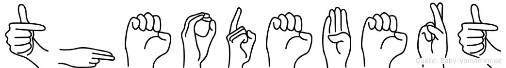 Theodebert im Fingeralphabet der Deutschen Gebärdensprache