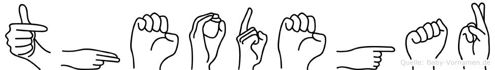 Theodegar in Fingersprache für Gehörlose
