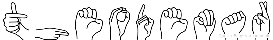 Theodemar im Fingeralphabet der Deutschen Gebärdensprache