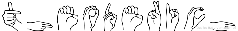 Theoderich im Fingeralphabet der Deutschen Gebärdensprache