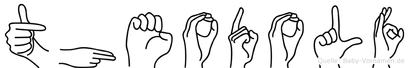Theodolf im Fingeralphabet der Deutschen Gebärdensprache