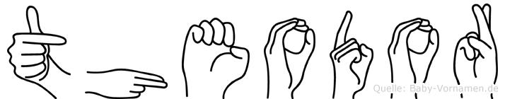 Theodor in Fingersprache für Gehörlose