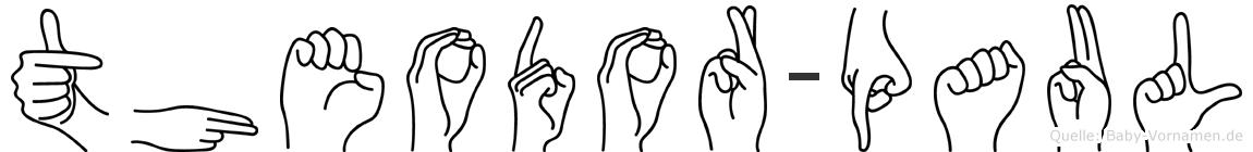 Theodor-Paul im Fingeralphabet der Deutschen Gebärdensprache