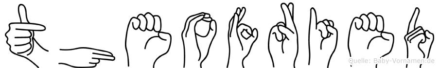 Theofried im Fingeralphabet der Deutschen Gebärdensprache